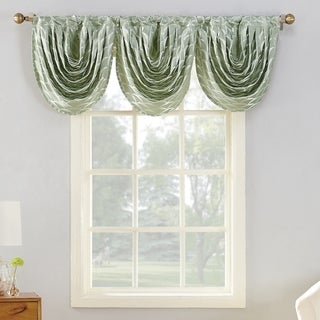 Sun Zero Atticus Metallic Jacquard Lined Rod Pocket Valance Piece - 22/24x22