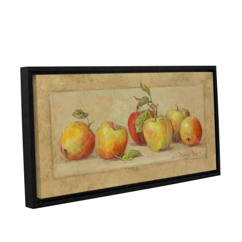 Barbara Mock 'Apple Collection' Gallery-wrapped Floater-framed Canvas