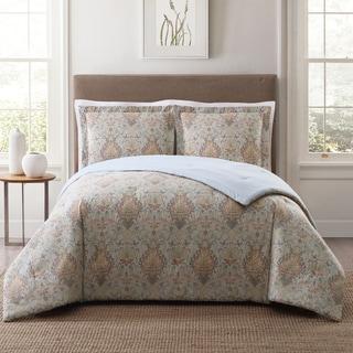 Style 212 Cambridge Damask 3-Piece Printed Comforter Set