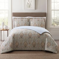 Style 212 Cambridge Damask 3-Piece Printed Comforter Set