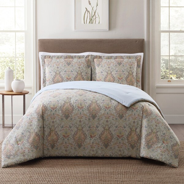 Damask Style Bedroom: Style 212 Cambridge Damask 3-Piece Printed Comforter Set