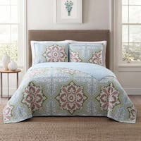 Style 212 Sheffield Tile 3-Piece Printed Comforter Sets