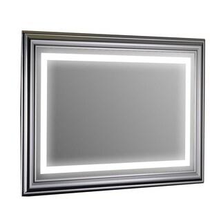 Eviva Silver Aluminum-framed Wall-mounted LED Bathroom Vanity Mirror