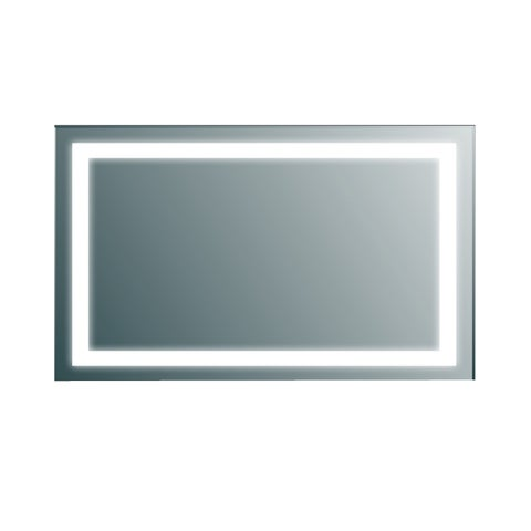 Eviva Clear Aluminum Wall-mount Backlit Lighted LED Bathroom Vanity Mirror