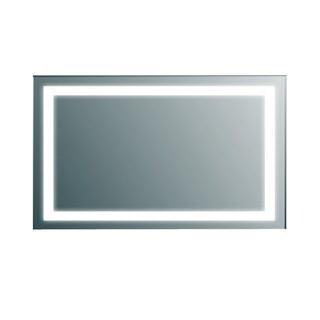Eviva Clear Aluminum Wall-mount Backlit Lighted LED Bathroom Vanity Mirror