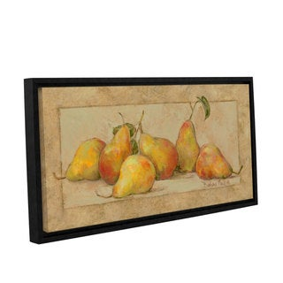 Barbara Mock 'Pear Collection' Gallery-wrapped Floater-framed Canvas Wall Art