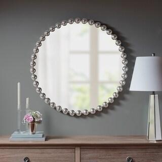 "Madison Park Signature Marlowe Metal Frame Round Decor Mirror 2-Color Option - 36""w x 1.57""d x 36""h"