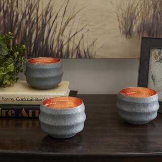 Madison Park Mercer Grey Tealight Candle Holders Set Of 3