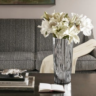 Madison Park Signature Braxton Silver Vase - Large
