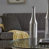 Madison Park Signature Nouveau Silver Vase - Medium