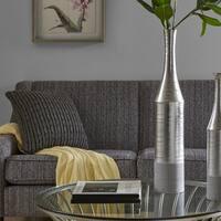 Madison Park Signature Nouveau Silver Vase - Large