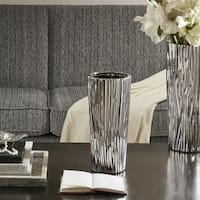 Madison Park Signature Braxton Silver Vase - Small