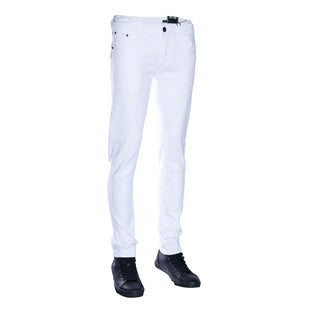 Seven Souls Mens Basic Casual Color Skinny Cotton Stretch Twill Pants
