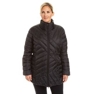 Champion Women's Plus 3/4 Length Packable Quilted Puffer Coat|https://ak1.ostkcdn.com/images/products/18016205/P24185398.jpg?impolicy=medium