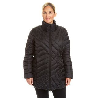 Champion Women's Plus 3/4 Length Packable Quilted Puffer Coat