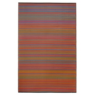 Fab Habitat Cancun Indoor/Outdoor Recycled Plastic Rug, Multicolor (8' x 10')