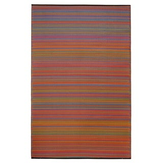 Fab Habitat Cancun Indoor/Outdoor Recycled Plastic Rug, Multicolor, 8' x 10' - 8' x 10'
