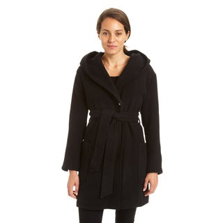Excelled Ladies Faux Wool 3/4 Length Wrap Jacket