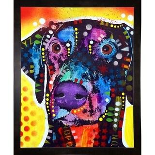 "Dobie Framed Print 7.25""x5.75"" by Dean Russo"