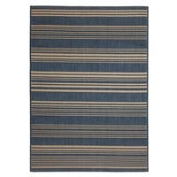 Fab Habitat Essentials Indoor/Outdoor Weather Resistant Floor Mat/Rug Newport - Stripe (7ft 8in x 10ft 8in) - Illusion