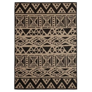 Fab Habitat Essentials Indoor/Outdoor Weather Resistant Floor Mat/Rug Serengeti - Art (4ft x 5ft 6in) - Illusion
