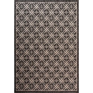 Fab Habitat Essentials Indoor/Outdoor Weather Resistant Floor Mat/Rug Cambridge - Diamond (5ft 2in x 7ft 5in) - Terrace