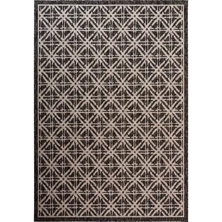 Fab Habitat Essentials Indoor/Outdoor Weather Resistant Floor Mat/Rug Cambridge - Diamond (7ft 8in x 10ft 8in) - Terrace