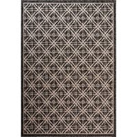 Fab Habitat Essentials Indoor/Outdoor Weather Resistant Floor Mat/Rug Cambridge - Diamond (4ft x 5ft 6in) - Terrace