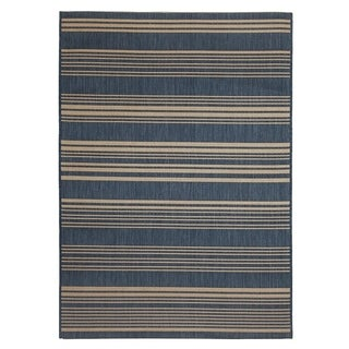 Fab Habitat Essentials Indoor/Outdoor Weather Resistant Floor Mat/Rug Newport - Stripe (4ft x 5ft 6in) - Illusion