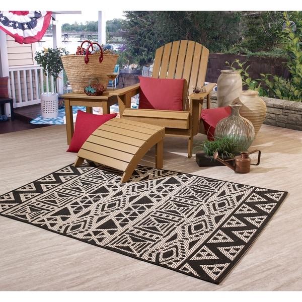 Fab Habitat Essentials Indoor Outdoor Weather Resistant Floor Mat Rug Serengeti Art 5ft 2in X 7ft 5in Illusion Free Shipping Today