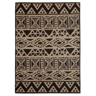Fab Habitat Essentials Indoor/Outdoor Weather Resistant Floor Mat/Rug Serengeti - Art (5ft 2in x 7ft 5in) - Illusion