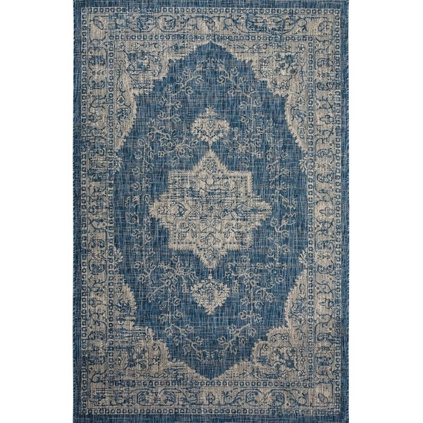 Fab Habitat Essentials Indoor/Outdoor Weather Resistant Floor Mat/Rug Gorgan - Persian (5ft 2in x 7ft 5in) - Illusion