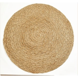 Fab Habitat Essentials: Yellowstone Braided Jute Rug (5' Round) - Jute