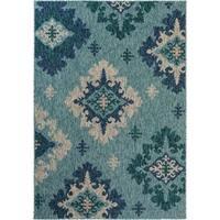 Fab Habitat Essentials Indoor/Outdoor Weather Resistant Floor Mat/Rug Palermo - Damask