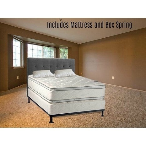 Continental Sleep, Medium Plush Pillowtop Orthopedic type Doublesided Mattress and Box Spring