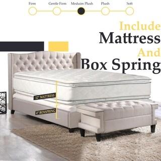 Continental Sleep, Medium Plush Pillowtop Orthopedic type Doublesided Mattress and 5-inch Split Box Spring