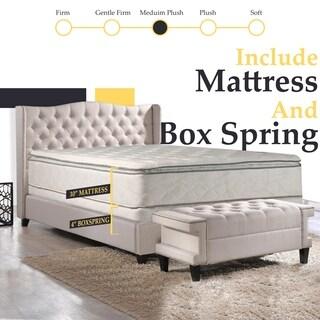 Continental Sleep, Medium Plush Pillowtop Orthopedic type Mattress and 5-inch Split Box Spring