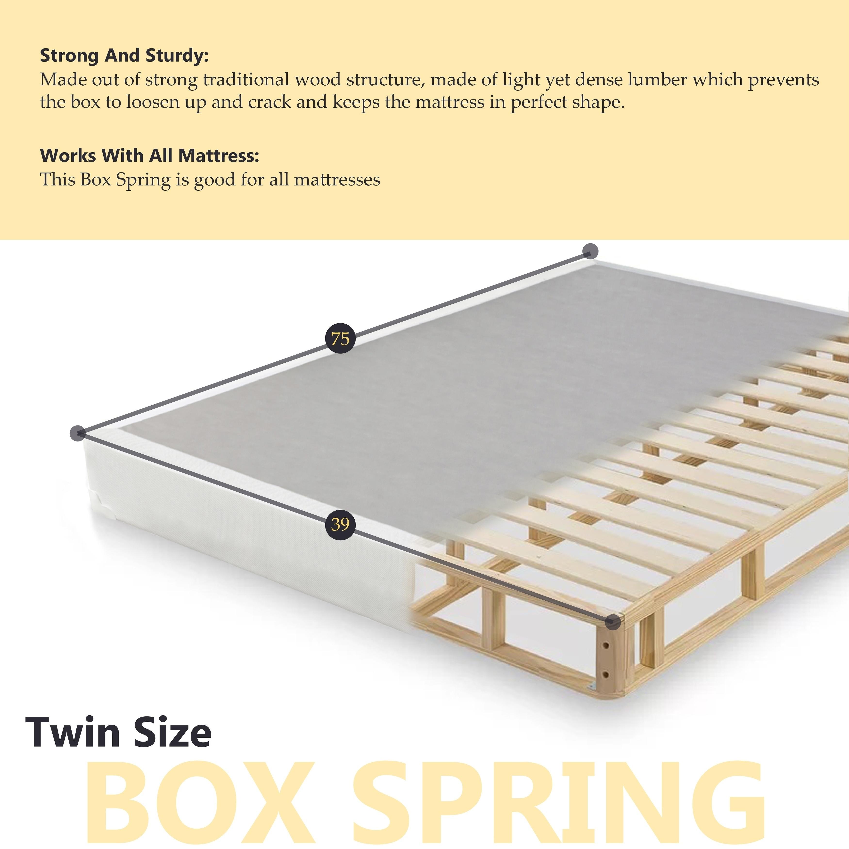 Mattress Solution 10-Inch Medium Plush Pillowtop Innerspring Mattress And 8 Wood Split Box Spring Queen Foundation Set