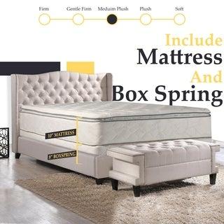 Continental Sleep, Medium Plush Pillowtop Orthopedic type Mattress and Split Box Spring