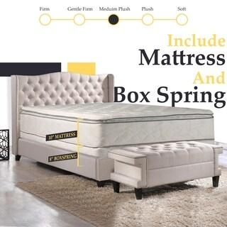 Continental Sleep, Medium Plush Pillowtop Orthopedic type Mattress and Semi Flex Box Spring