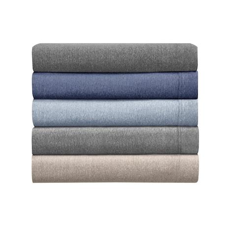 Asher Home Heathered Cotton Blend T-Shirt Jersey Sheet Set