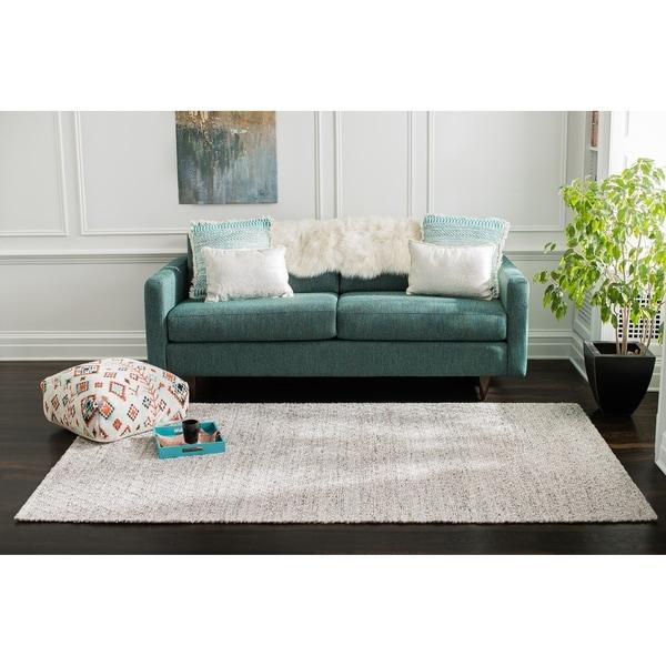 Jani Sarita Grey Jute and Wool-Alternative Rug - 8' x 10'