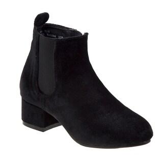 Nanette Lepore girl velvet ankle boot