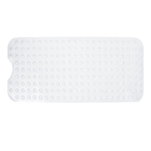 Extra Long Nonslip Jumbo Bathtub Mat With Strong Grip Suction Cups   Large  Vinyl Anti