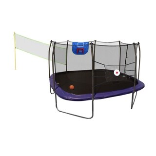 Skywalker Trampolines 13' Square Sports Arena Trampoline with Enclosure - Blue