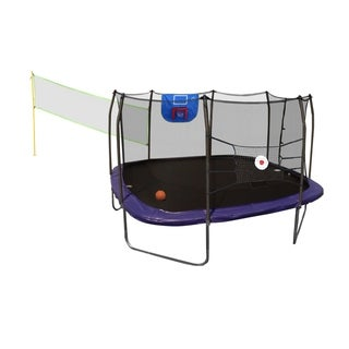 Skywalker Trampolines 13' Square Sports Arena Trampoline with Enclosure - Blue