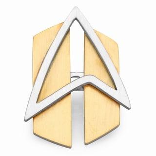 Stainless Steel & Yellow IP Star Fleet Pin