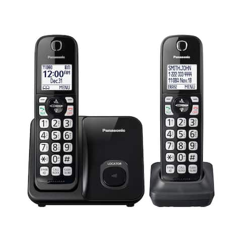 Panasonic KX-TGD512B DECT 6.0 1.90 GHz Cordless Phone - Black