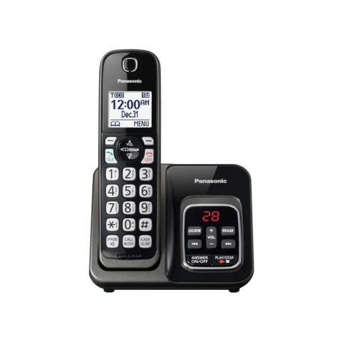 Panasonic KX-TGD530M DECT 6.0 1.90 GHz Cordless Phone - Metallic Black