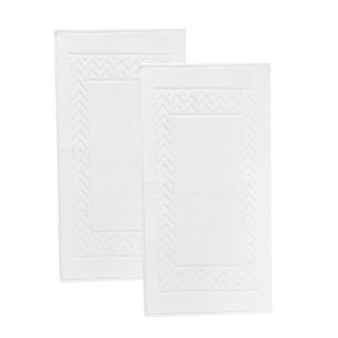 Enchasoft 2pc Turkish Cotton Bath Mat set